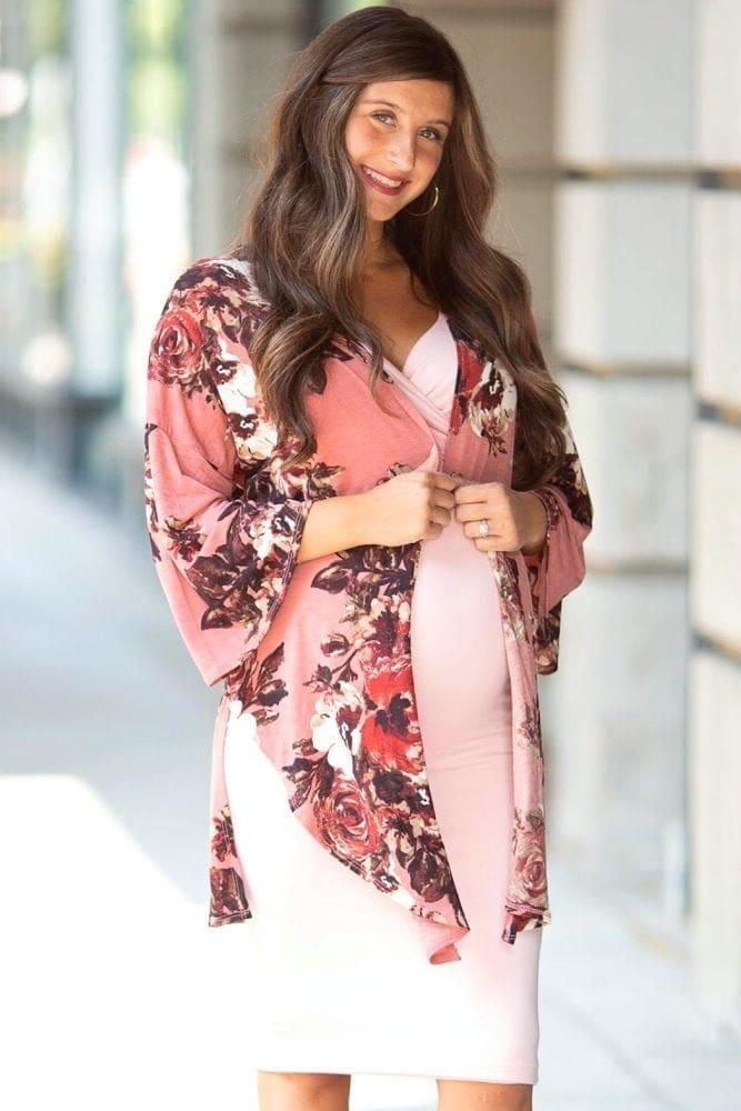 floral maternity kimono