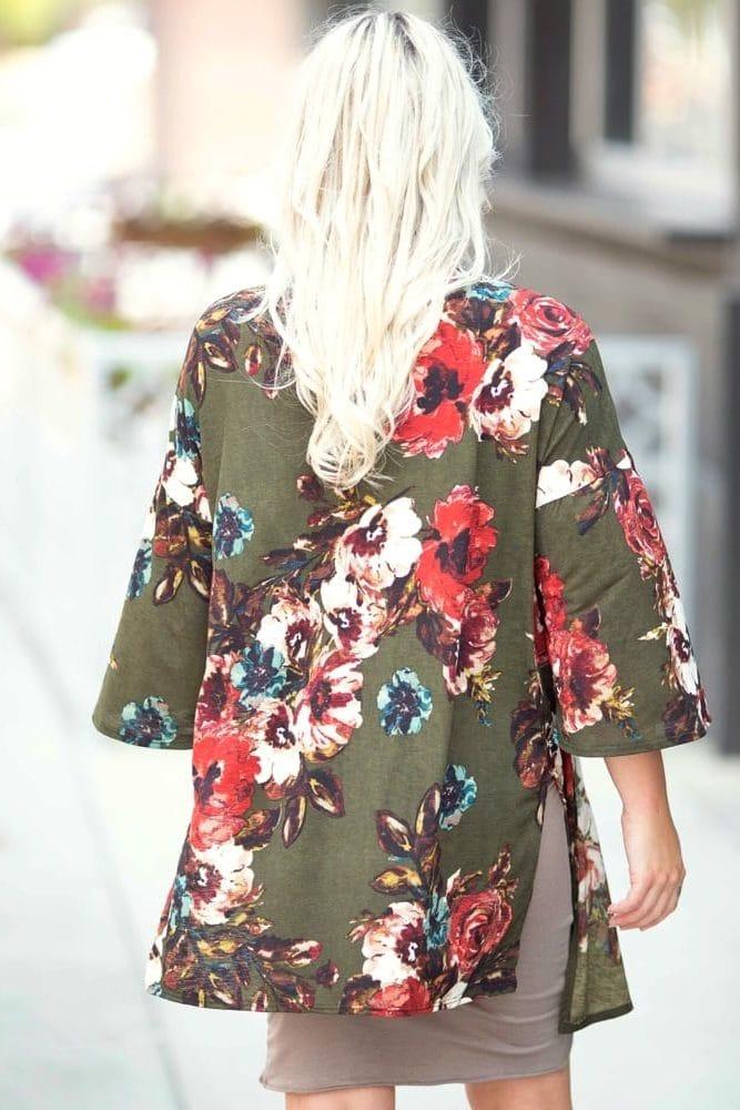 lightweight maternity kimono