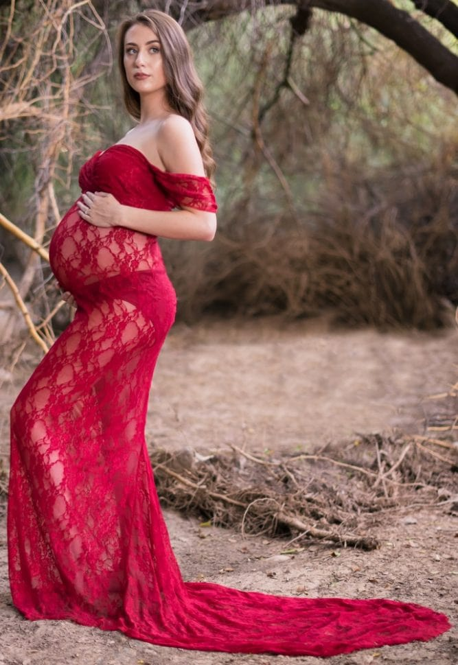 sexy maternity gown