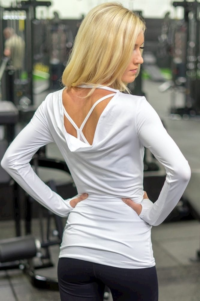 long sleeve maternity yoga top