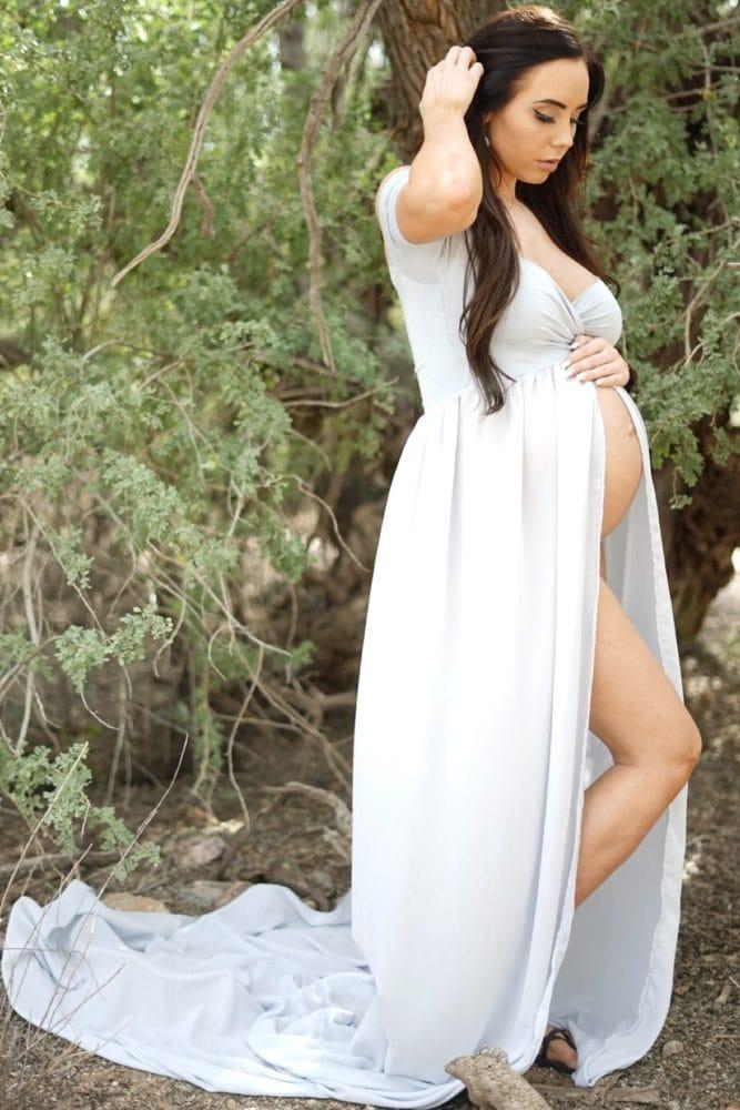 boudoir maternity gown