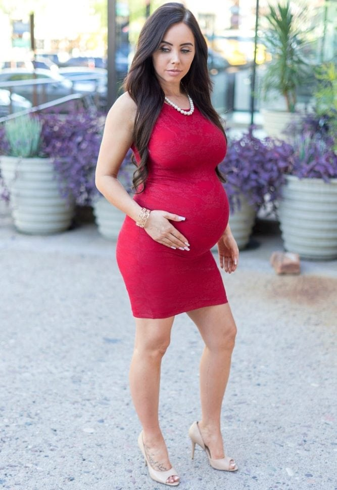 bodycon lace maternity dress