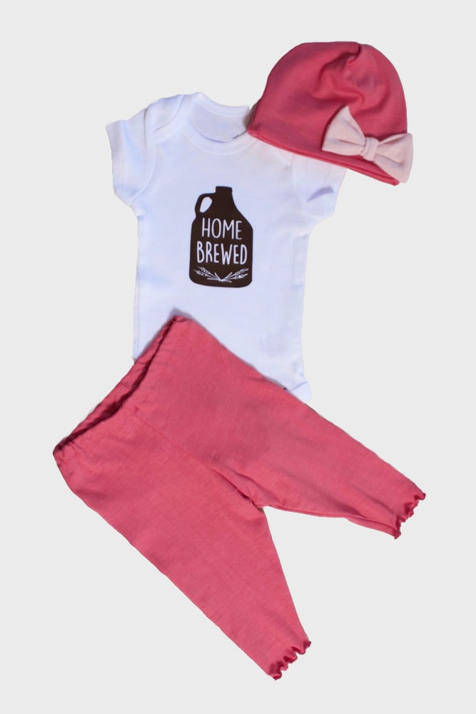 home brewed baby outfit