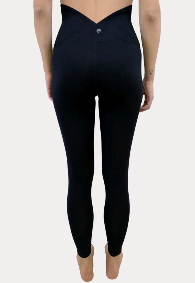 basic black maternity leggings
