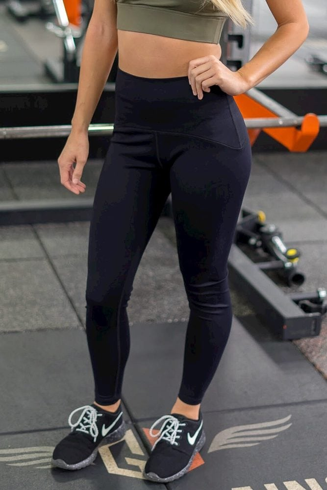 high-waisted postpartum leggings