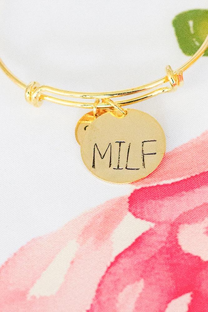 gold milf bracelet