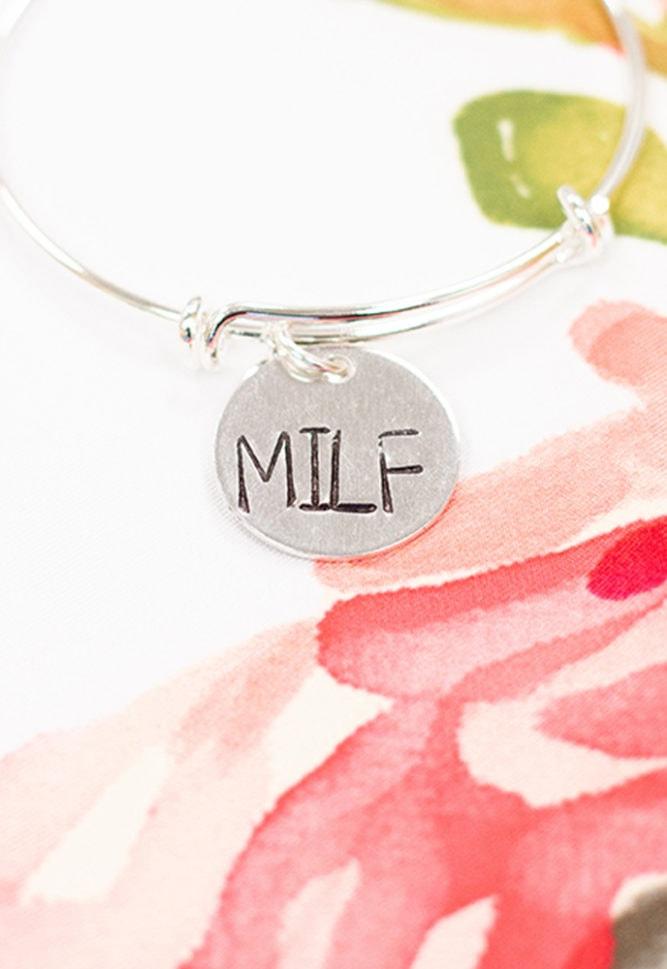 silver MILF bracelet