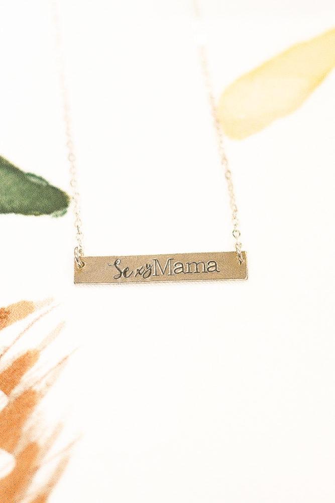 sexy mama bar necklace
