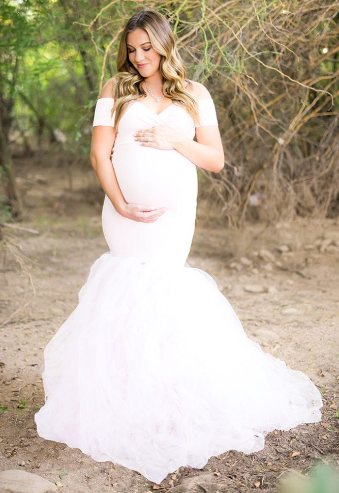 princess maternity wedding dress