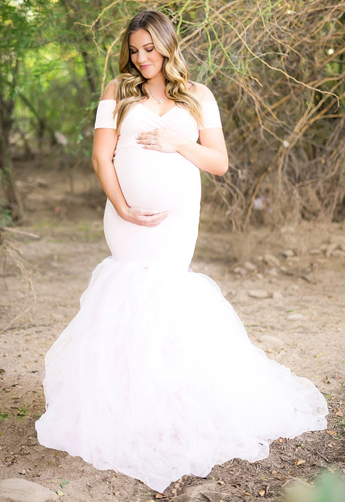 48195be65f625 Princess Maternity Wedding Dress with Tulle - Sexy Mama Maternity