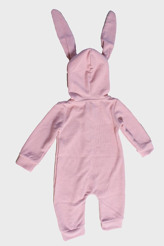 pink bunny baby onesie