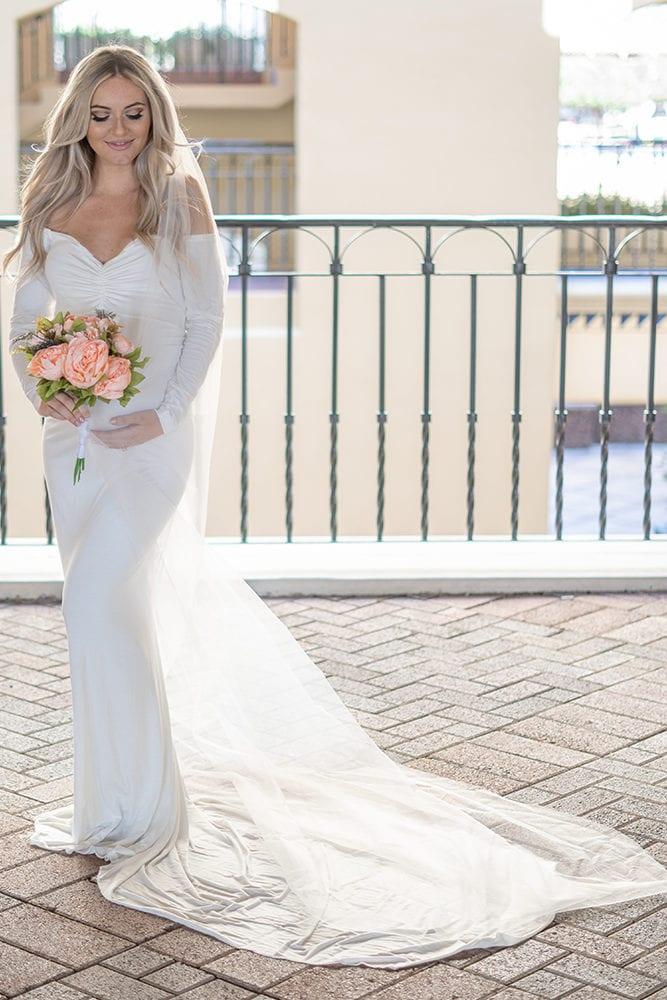maternity wedding dress with train