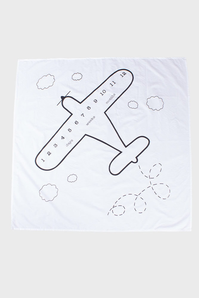 airplane milestone blanket