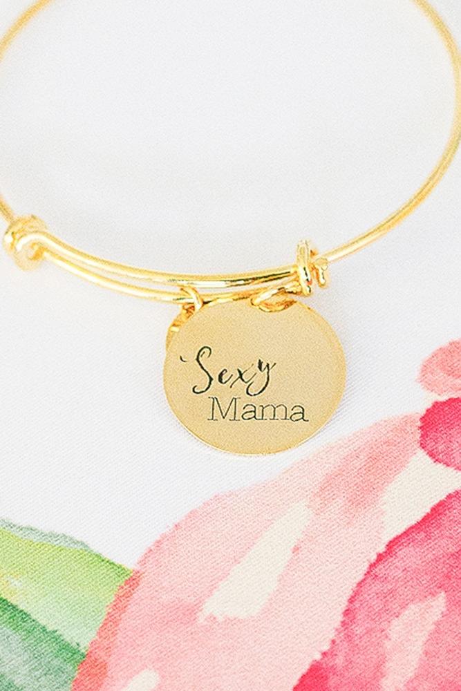 gold sexy mama bangle
