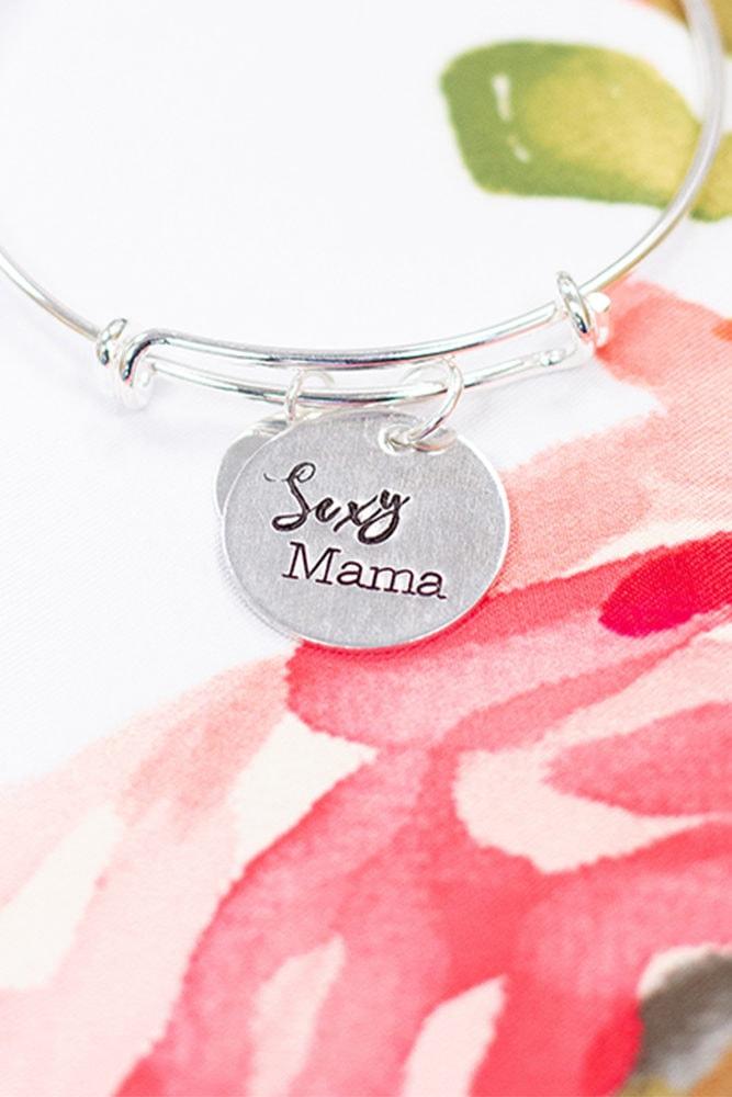 silver sexy mama bangle