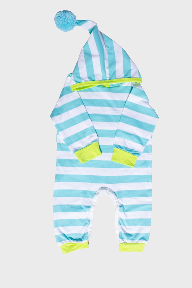colorful striped baby onesie