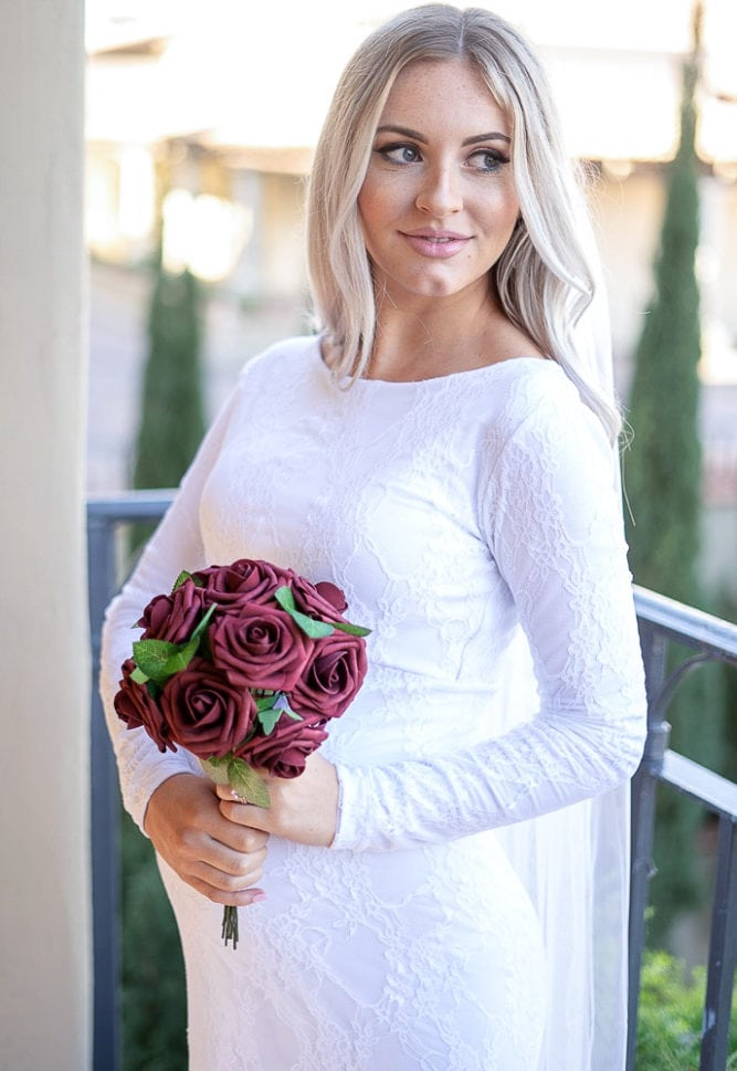 pregnancy wedding gown