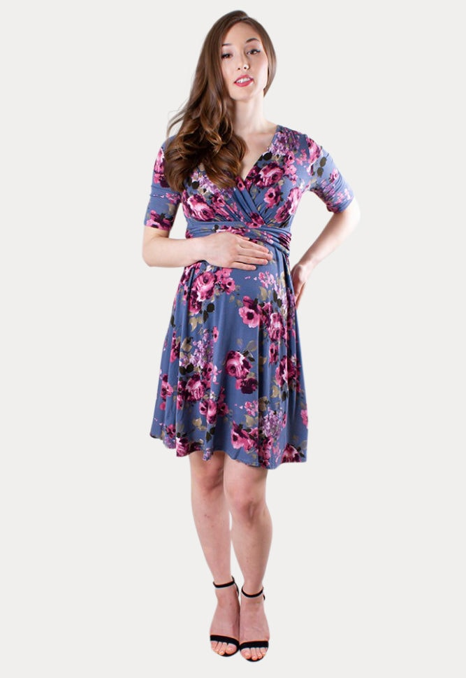 floral maternity sweetheart dress