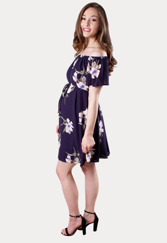 feminine maternity dress