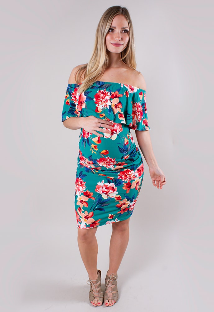 8426c703f54 Tropical Maternity Dress Bodycon - Sexy Mama Maternity