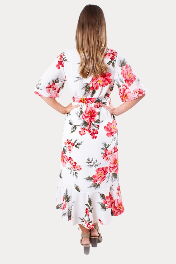 floral maternity wrap dress