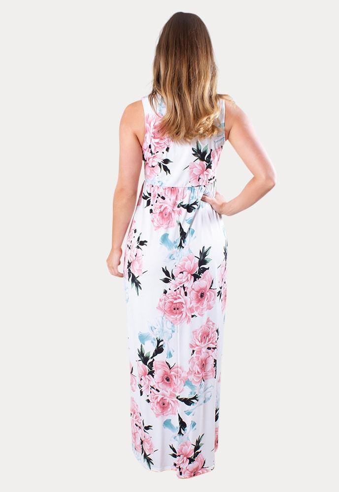Floral Maternity Maxi Dress Sexy Mama Maternity