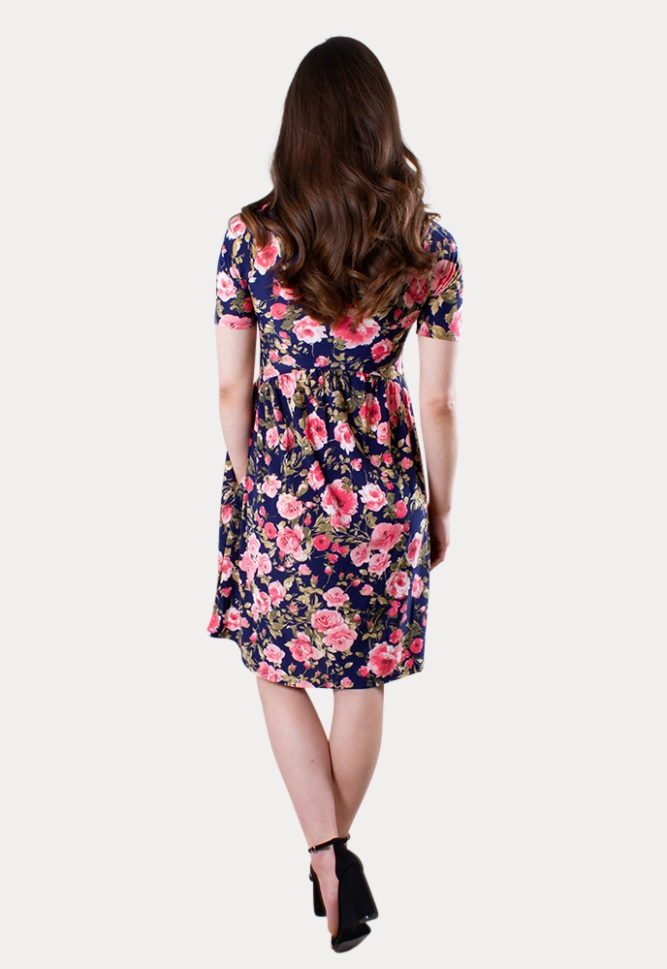 floral maternity mini dress