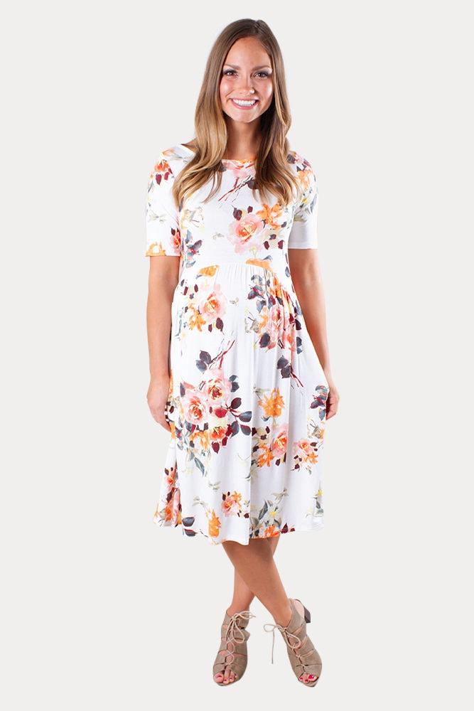 maternity floral mini dress