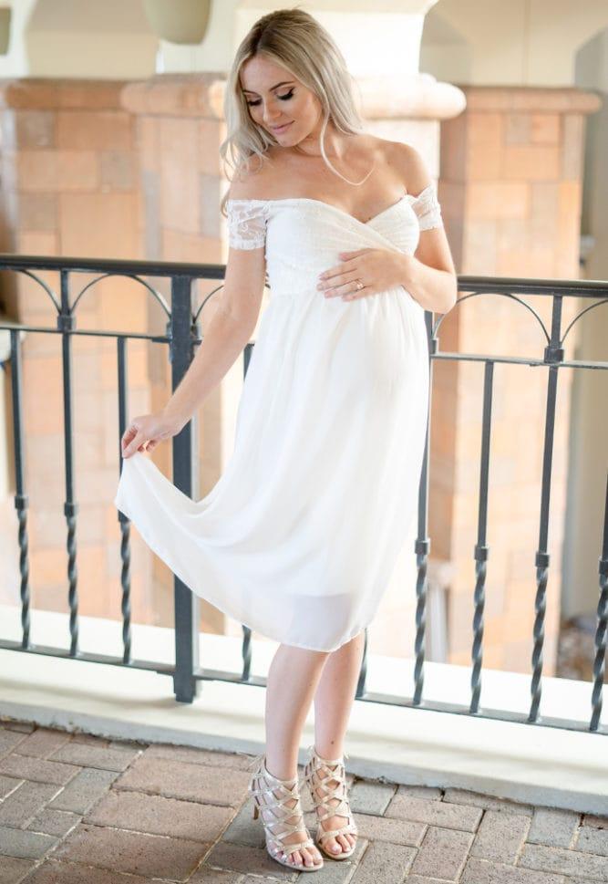 maternity dress for wedding reception