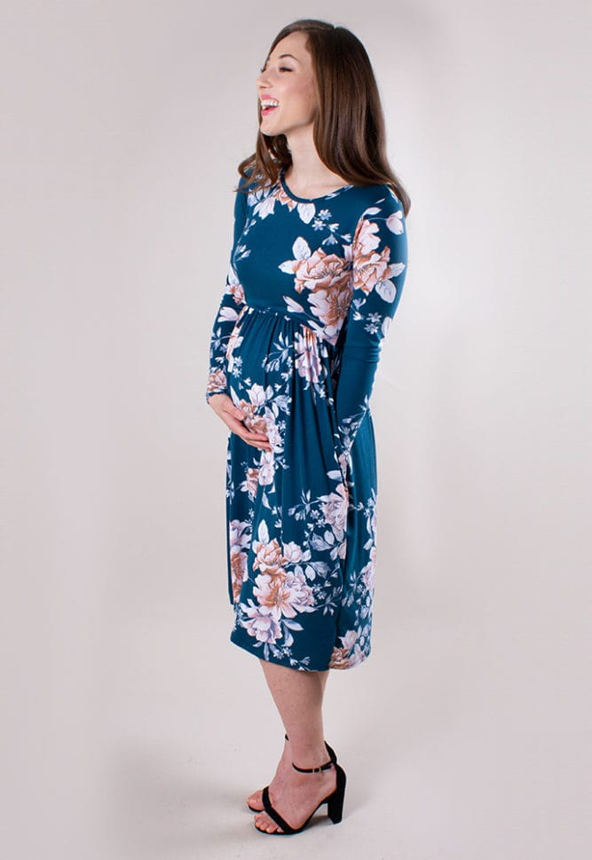 baby shower midi dress