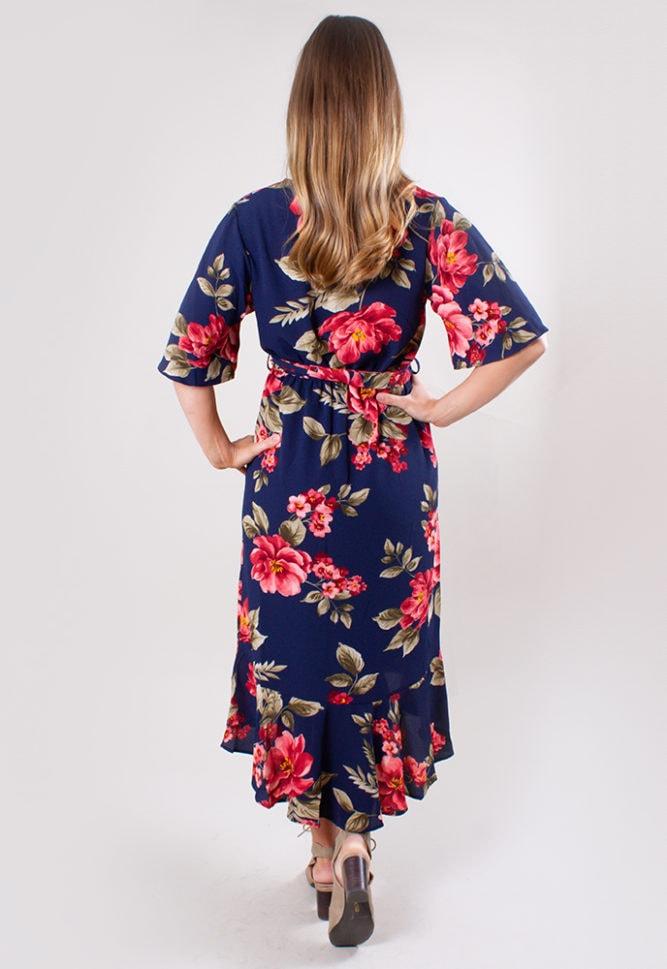 floral pregnancy wrap dress