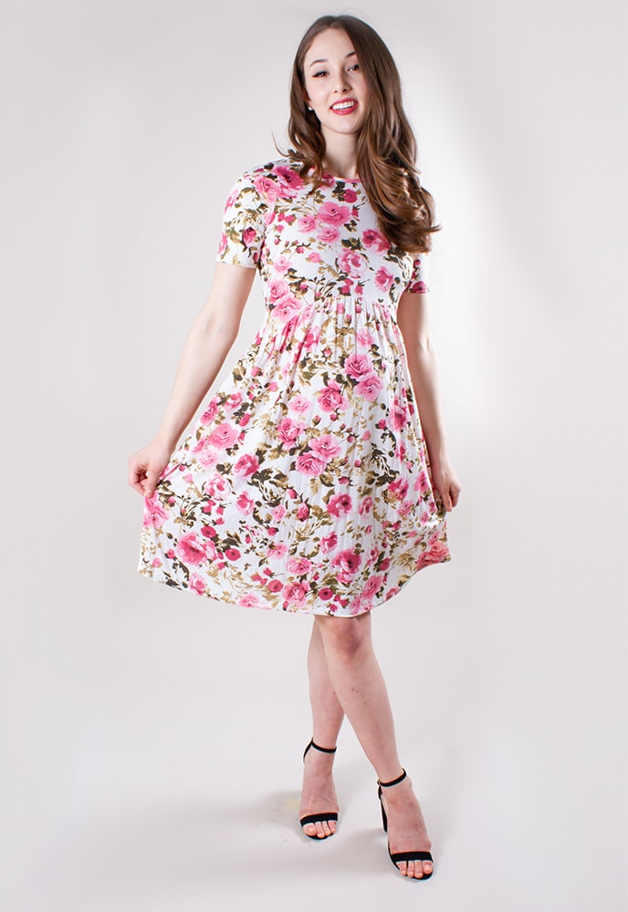 ae6645a002 Pink Floral Maternity Dress - Sexy Mama Maternity