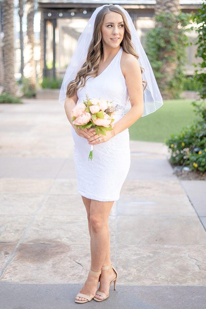 reception maternity halter dress