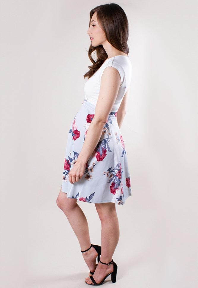 flare maternity dress