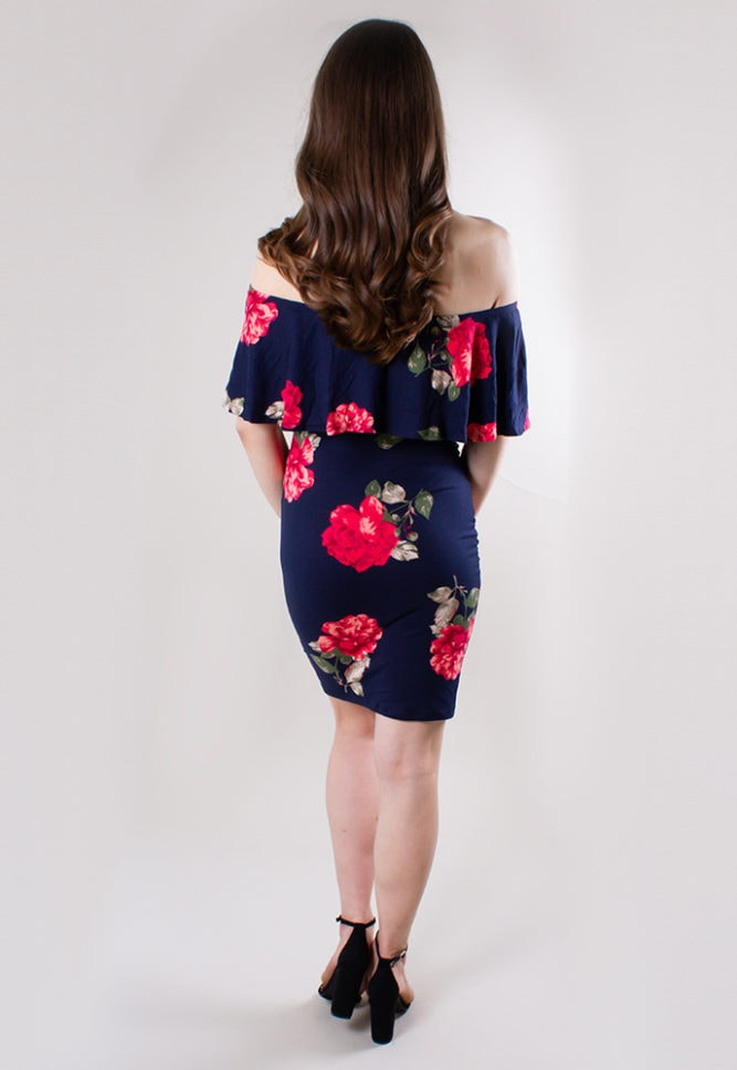 floral bodycon maternity dress