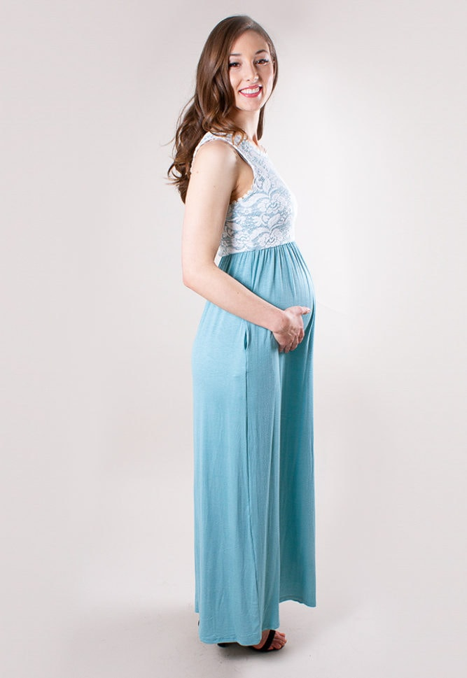 baby shower maxi dress