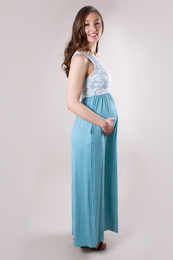 baby shower maxi dress