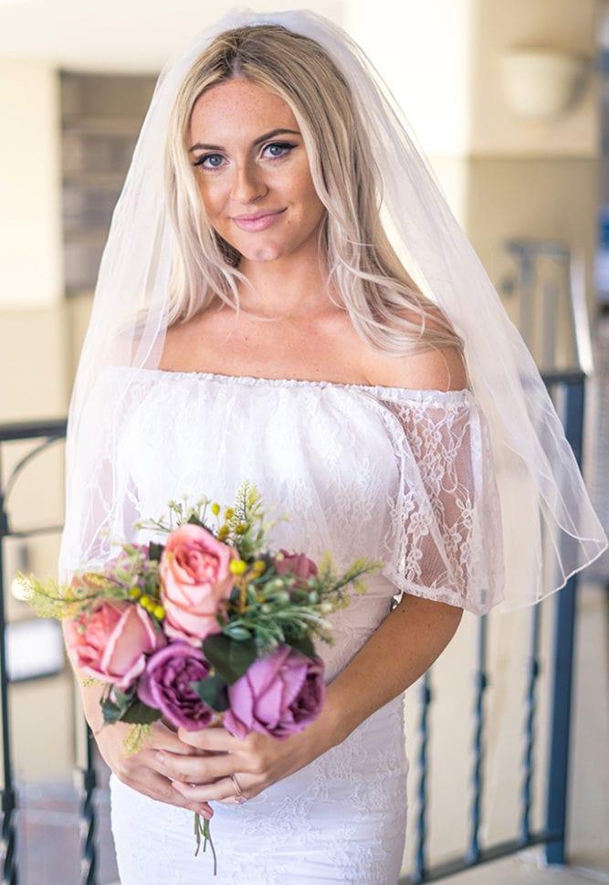 reception dress for pregnant bride