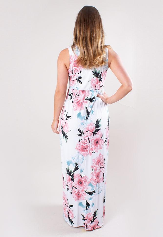 floral maternity maxi dress