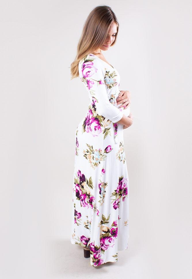 pregnancy wrap dress