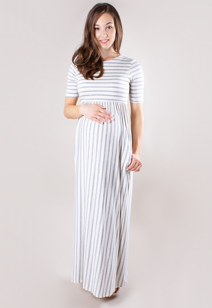 6c4c430c570 Striped Maternity Maxi Dress - Sexy Mama Maternity