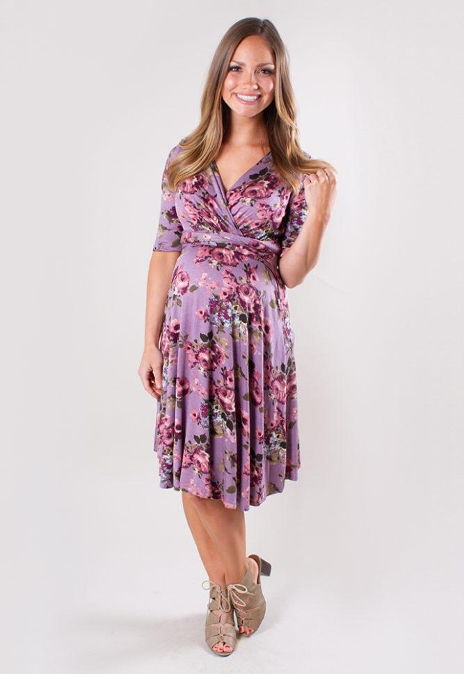 sweetheart maternity wrap dress