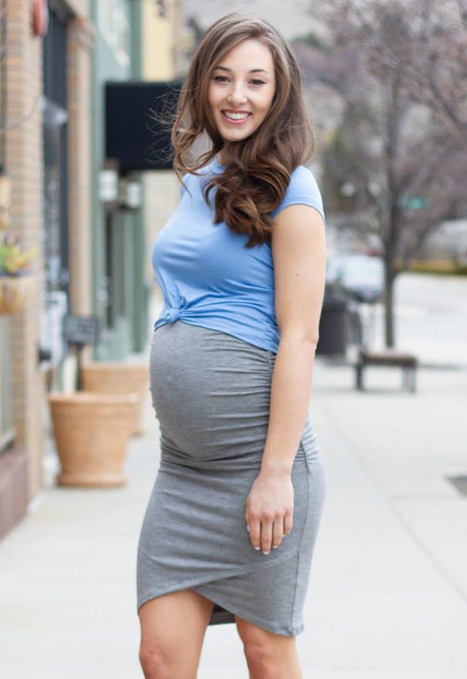 maternity wrap skirt