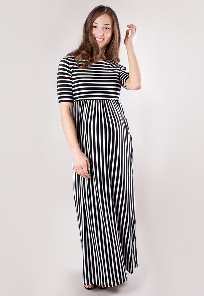 b36f366518a6 Striped Maternity Maxi Dress - Sexy Mama Maternity