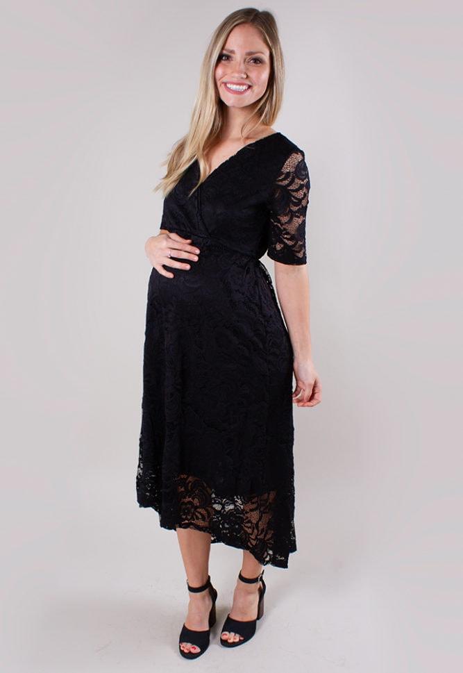 elegant lace maternity dress