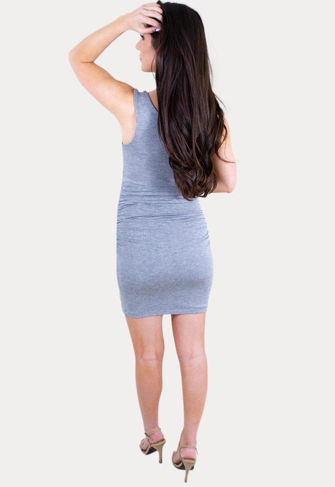 flattering maternity dress