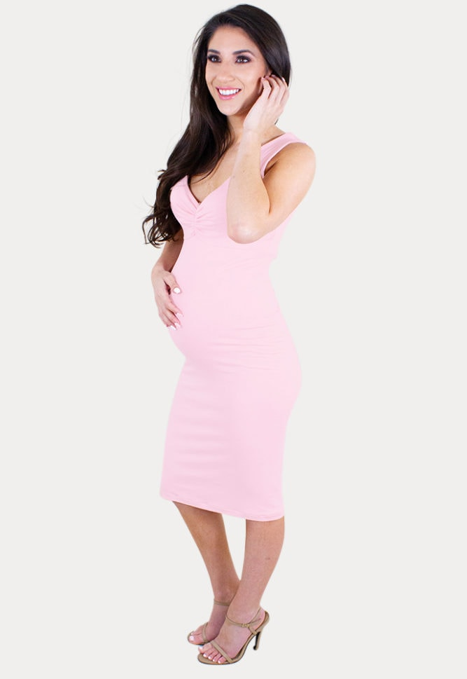 sleeveless baby shower dress