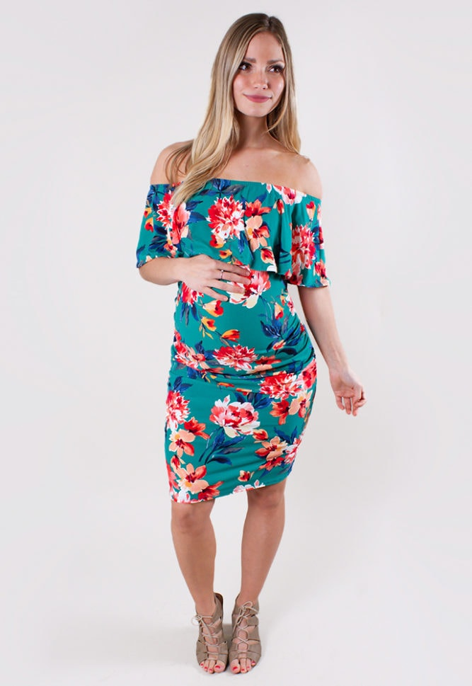 tropical maternity dress