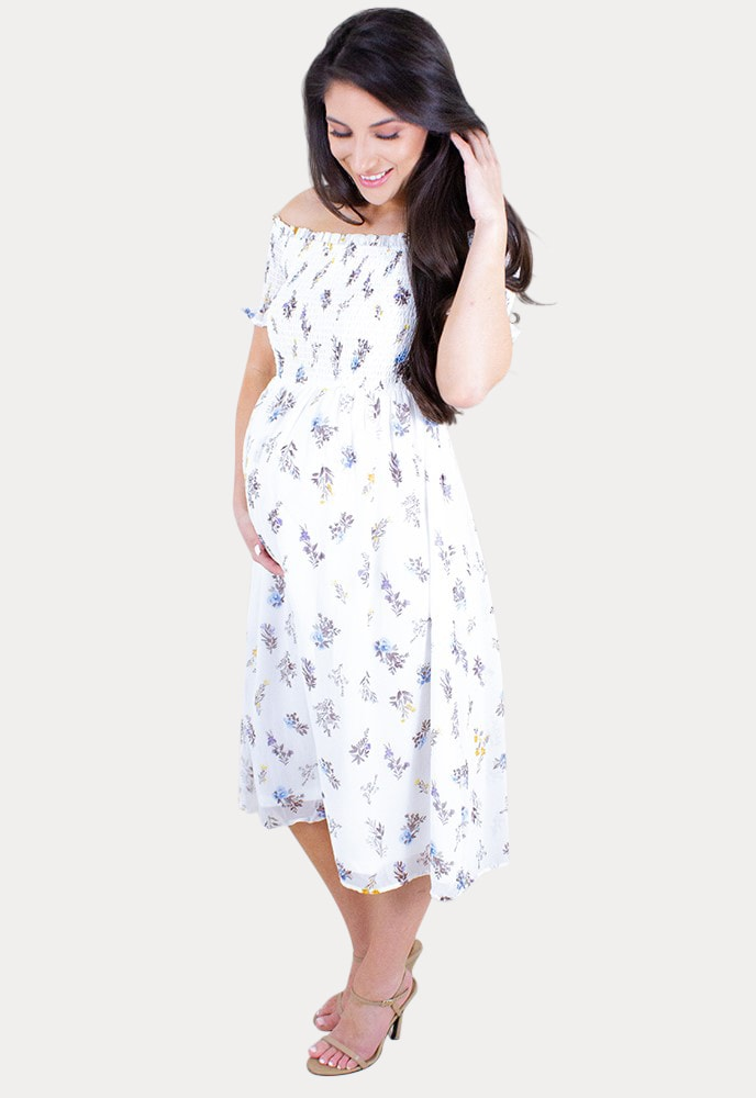 Off The Shoulder Pregnancy Dress Sexy Mama Maternity