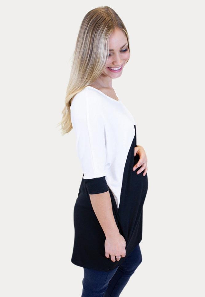short sleeve maternity tee